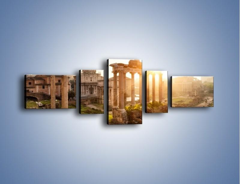 Obraz na płótnie – Starożytna architektura Rzymu – pięcioczęściowy AM638W6