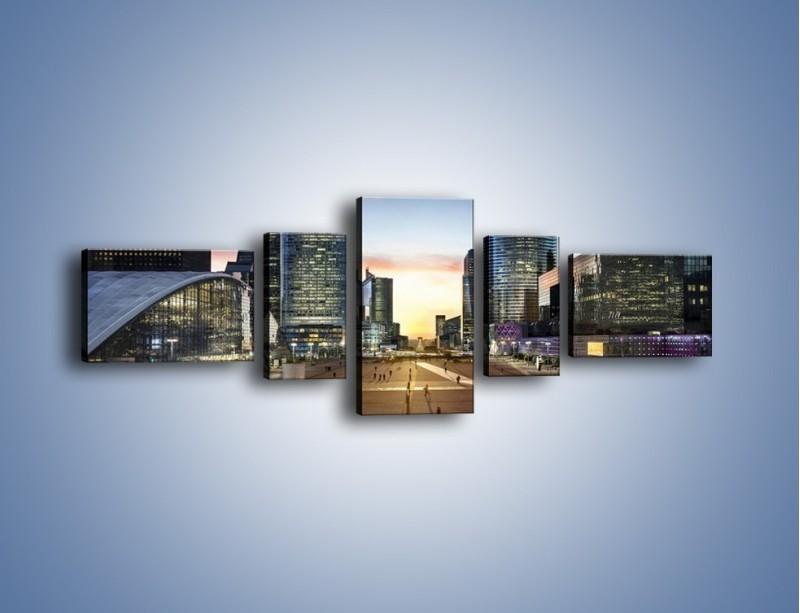 Obraz na płótnie – Quartier La Défense w Paryżu – pięcioczęściowy AM647W6