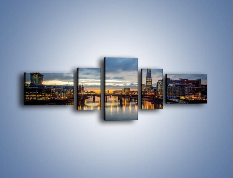 Obraz na płótnie – Millennium Bridge w Londynie – pięcioczęściowy AM651W6