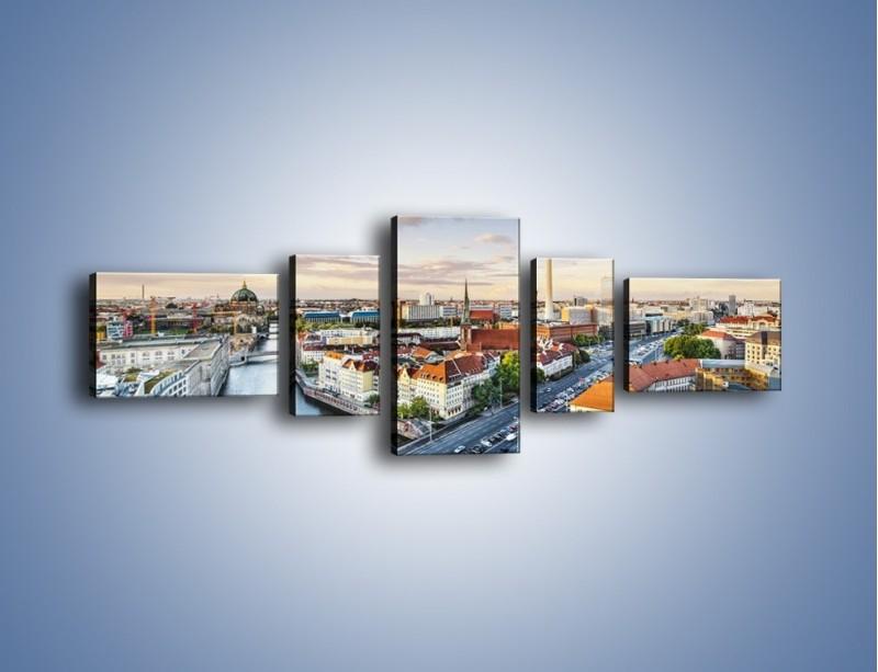 Obraz na płótnie – Panorama Berlina – pięcioczęściowy AM673W6