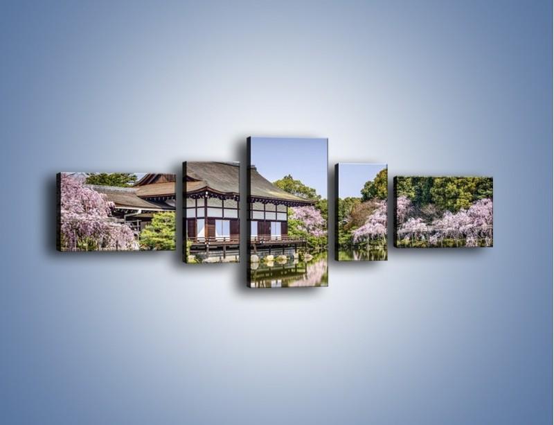 Obraz na płótnie – Świątynia Heian Shrine w Kyoto – pięcioczęściowy AM677W6