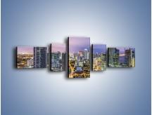 Obraz na płótnie – Centrum Miami – pięcioczęściowy AM702W6