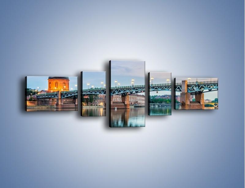 Obraz na płótnie – Most Saint-Pierre w Tuluzie – pięcioczęściowy AM721W6
