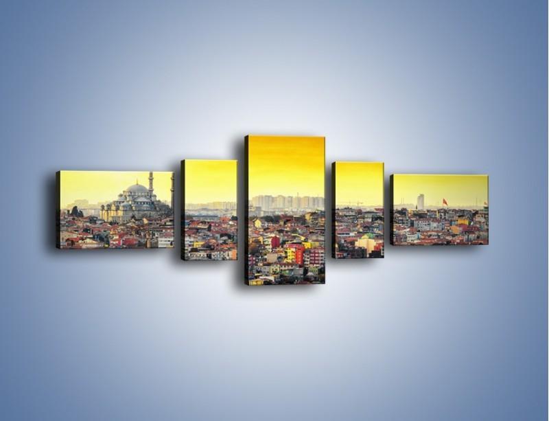 Obraz na płótnie – Zachód słońca nad Stambułem – pięcioczęściowy AM788W6