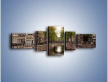 Obraz na płótnie – Amsterdamski kanał – pięcioczęściowy AM800W6
