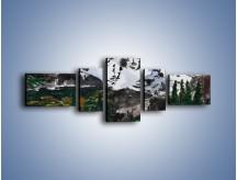 Obraz na płótnie – Góry i ich roślinność – pięcioczęściowy GR038W6