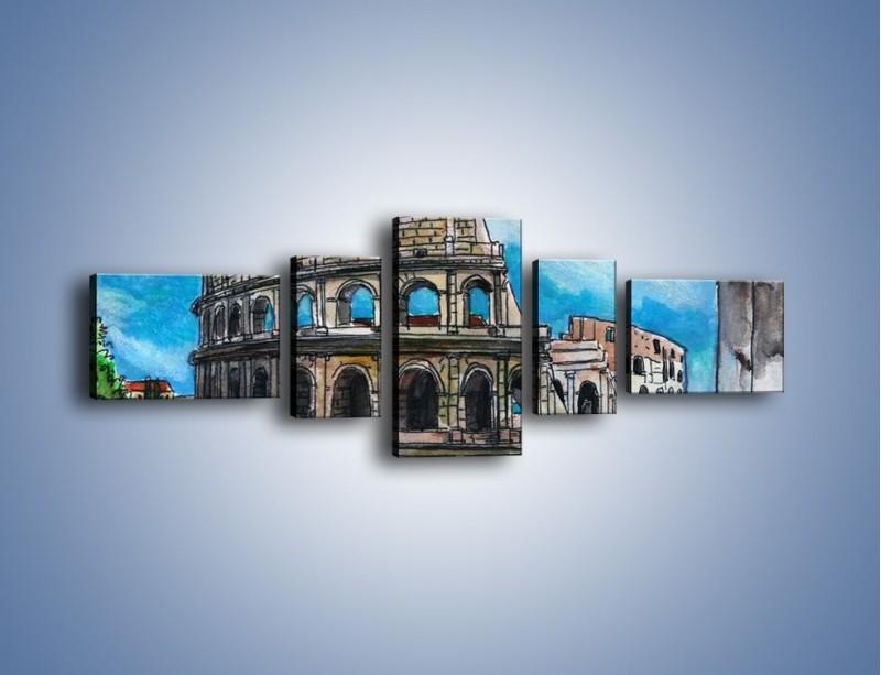 Obraz na płótnie – Znana budowla z bliska – pięcioczęściowy GR039W6