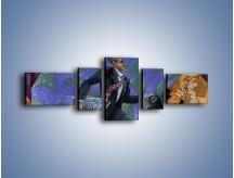 Obraz na płótnie – Dużym krokiem przez świat – pięcioczęściowy GR081W6