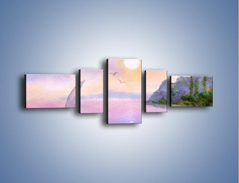Obraz na płótnie – Uroki jesiennej pory – pięcioczęściowy GR096W6