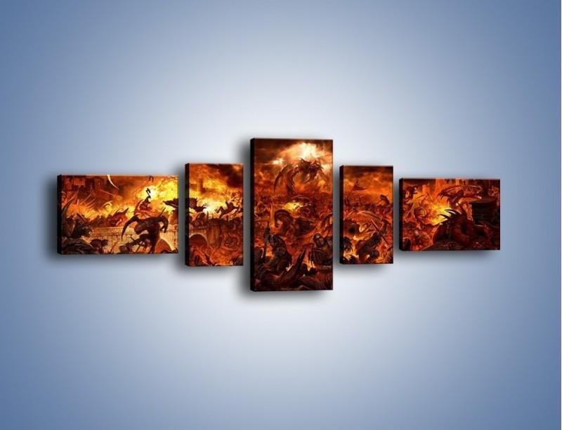 Obraz na płótnie – Bitwa z demonami – pięcioczęściowy GR137W6