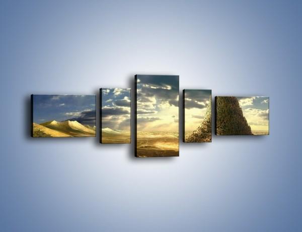 Obraz na płótnie – Przez górę aż do chmur – pięcioczęściowy GR139W6