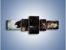 Obraz na płótnie – Groźny podmuch potworów – pięcioczęściowy GR174W6