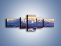 Obraz na płótnie – Górskim szlakiem z cudnym widokiem – pięcioczęściowy GR194W6