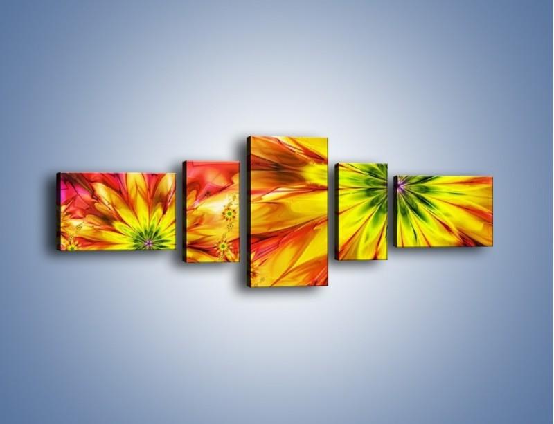 Obraz na płótnie – Moc w kwiecie – pięcioczęściowy GR243W6