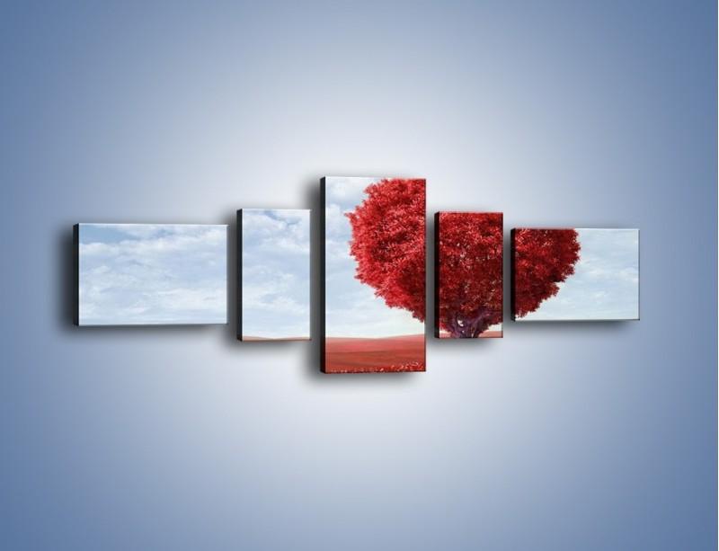 Obraz na płótnie – Polaną w stronę miłości – pięcioczęściowy GR249W6