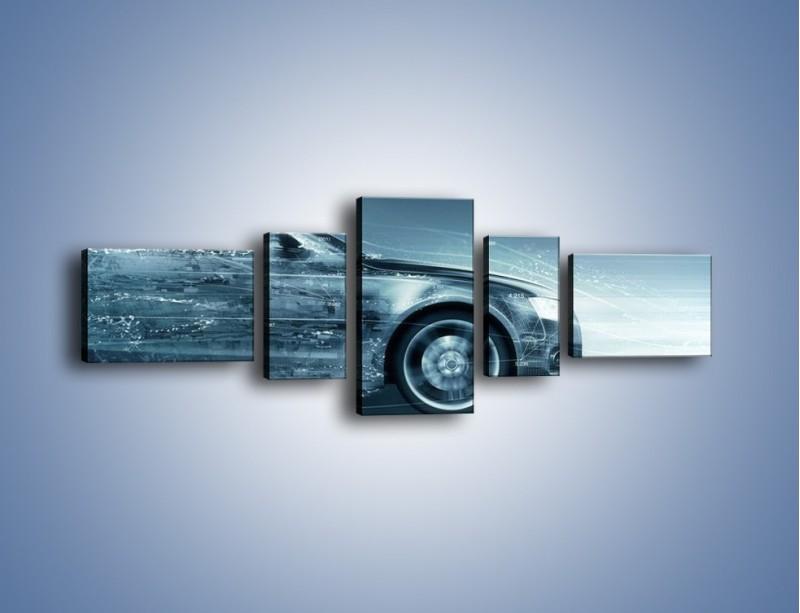 Obraz na płótnie – Auto z prędkością światła – pięcioczęściowy GR264W6