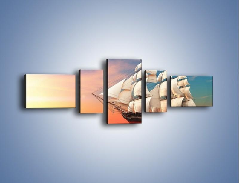 Obraz na płótnie – Statkiem w nieznane – pięcioczęściowy GR277W6
