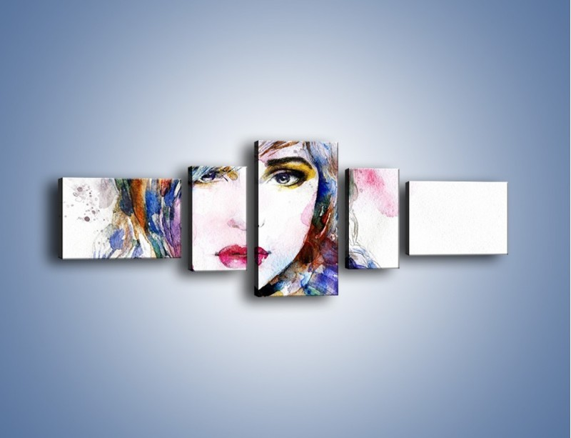 Obraz na płótnie – Zaczarować wzrokiem – pięcioczęściowy GR330W6