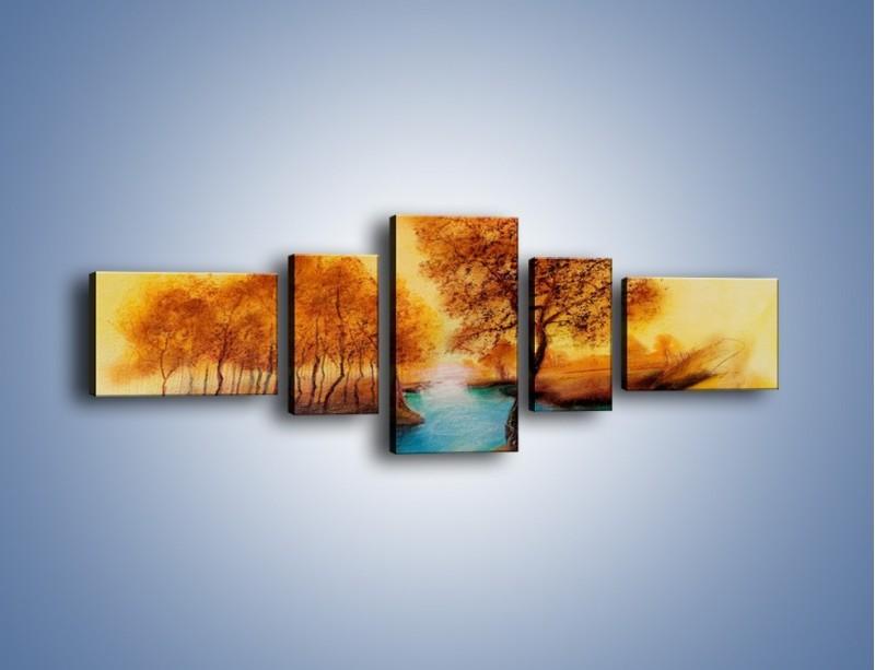 Obraz na płótnie – Drzewa nad samą wodą – pięcioczęściowy GR352W6