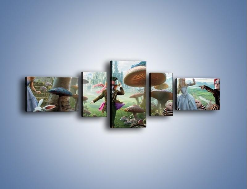 Obraz na płótnie – Alicja w krainie czarów – pięcioczęściowy GR357W6