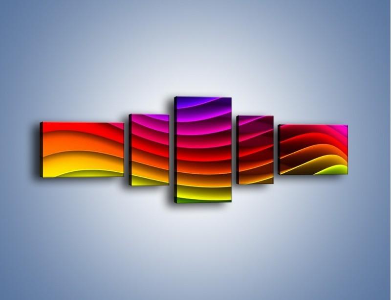 Obraz na płótnie – Falą w kolorze – pięcioczęściowy GR393W6