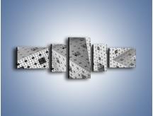 Obraz na płótnie – Budynki z klocków – pięcioczęściowy GR410W6