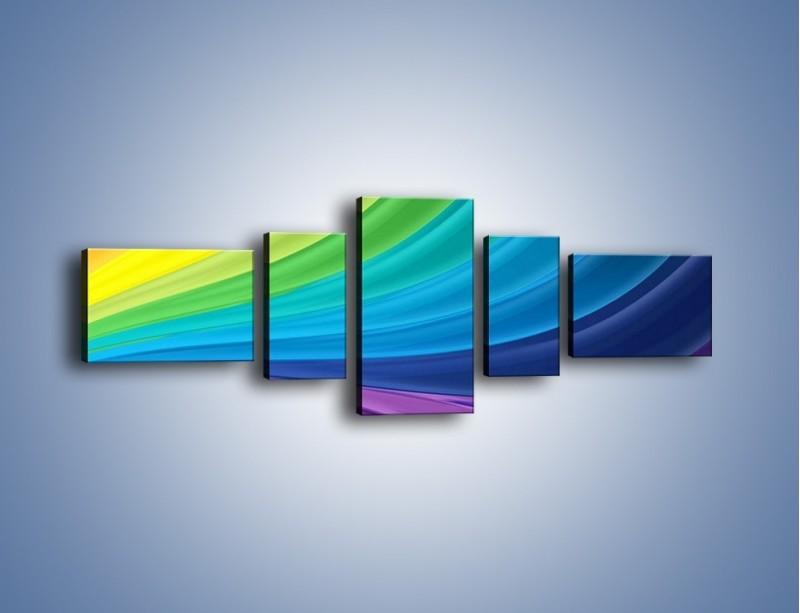 Obraz na płótnie – Zachowane kolory tęczy – pięcioczęściowy GR424W6