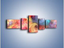 Obraz na płótnie – Głębia kolorów – pięcioczęściowy GR429W6