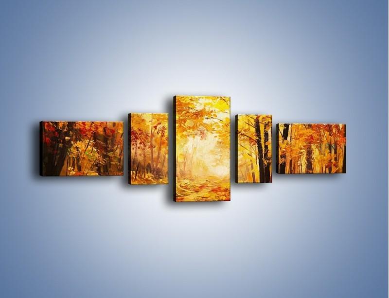 Obraz na płótnie – Dywan liśćmi usypany – pięcioczęściowy GR438W6
