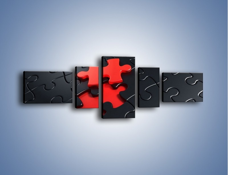 Obraz na płótnie – Brakujący element – pięcioczęściowy GR453W6