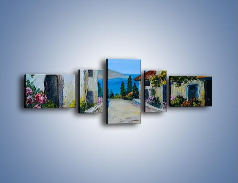 Obraz na płótnie – Urok włoskich uliczek – pięcioczęściowy GR459W6