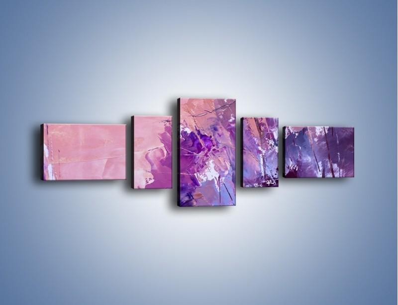 Obraz na płótnie – Mocna barwa fioletu – pięcioczęściowy GR472W6