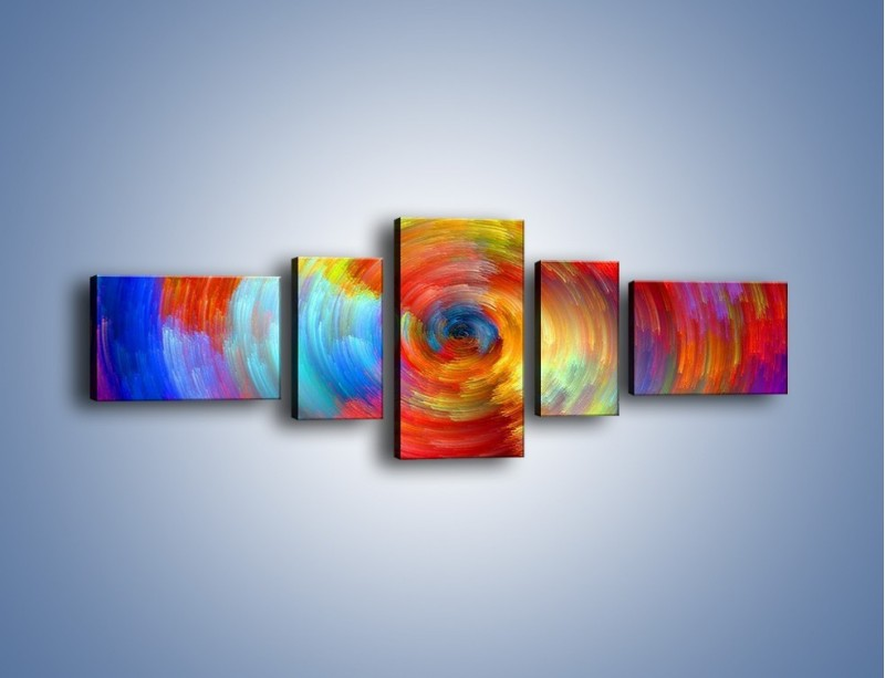 Obraz na płótnie – Kolorowy wir – pięcioczęściowy GR502W6