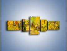 Obraz na płótnie – Alejką w słoneczna jesień – pięcioczęściowy GR540W6