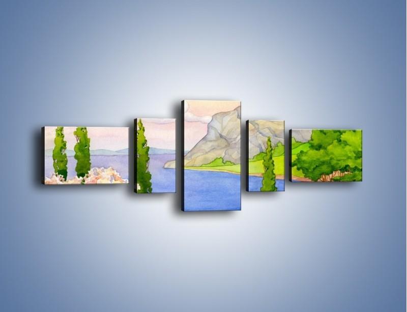 Obraz na płótnie – Krajobraz jak z pocztówki – pięcioczęściowy GR541W6
