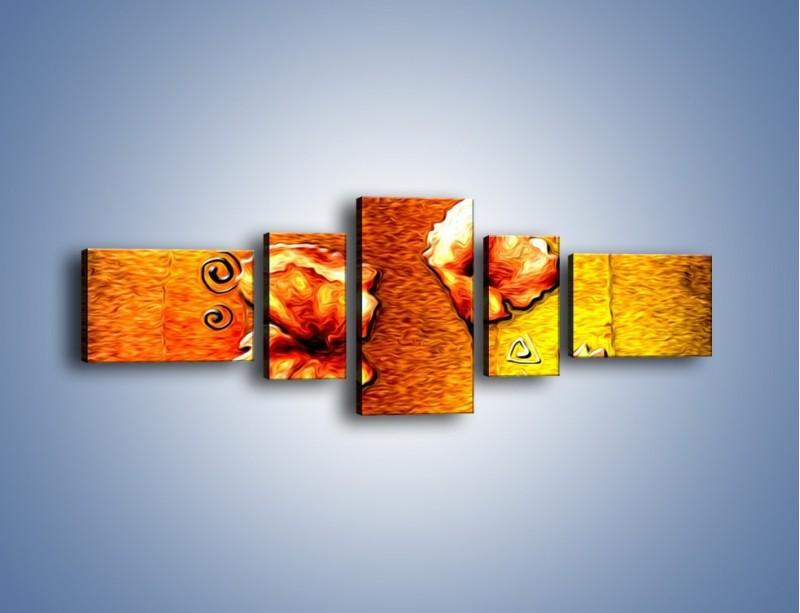 Obraz na płótnie – Maki z dodatkami – pięcioczęściowy GR574W6