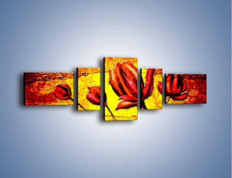 Obraz na płótnie – Zamknięte w sobie – pięcioczęściowy GR576W6