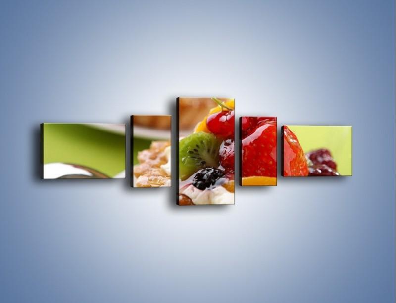 Obraz na płótnie – Owocowe babeczki z kremem – pięcioczęściowy JN021W6