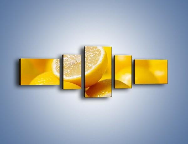 Obraz na płótnie – Kwaśne soczyste cytrynki – pięcioczęściowy JN031W6