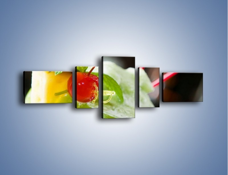 Obraz na płótnie – Owocowy sorbet – pięcioczęściowy JN055W6