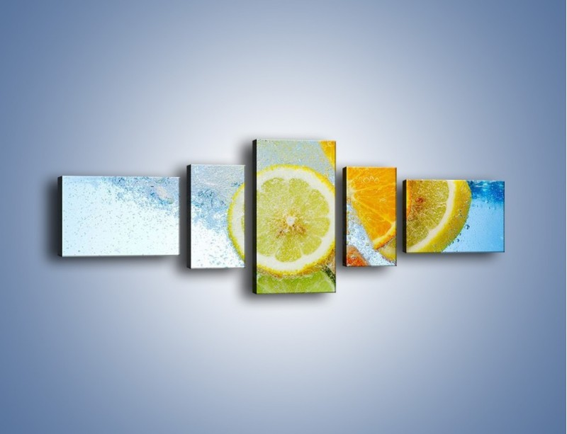 Obraz na płótnie – Zatopione plastry owoców – pięcioczęściowy JN057W6