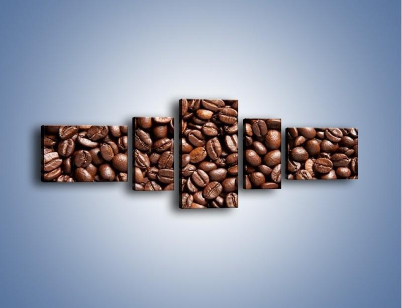 Obraz na płótnie – Ziarna świeżej kawy – pięcioczęściowy JN061W6