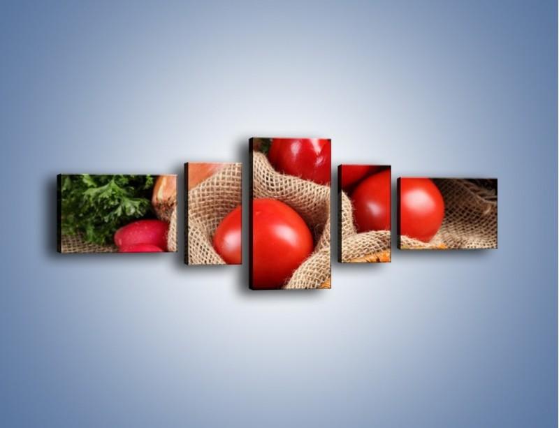 Obraz na płótnie – Makaron z warzywami – pięcioczęściowy JN076W6