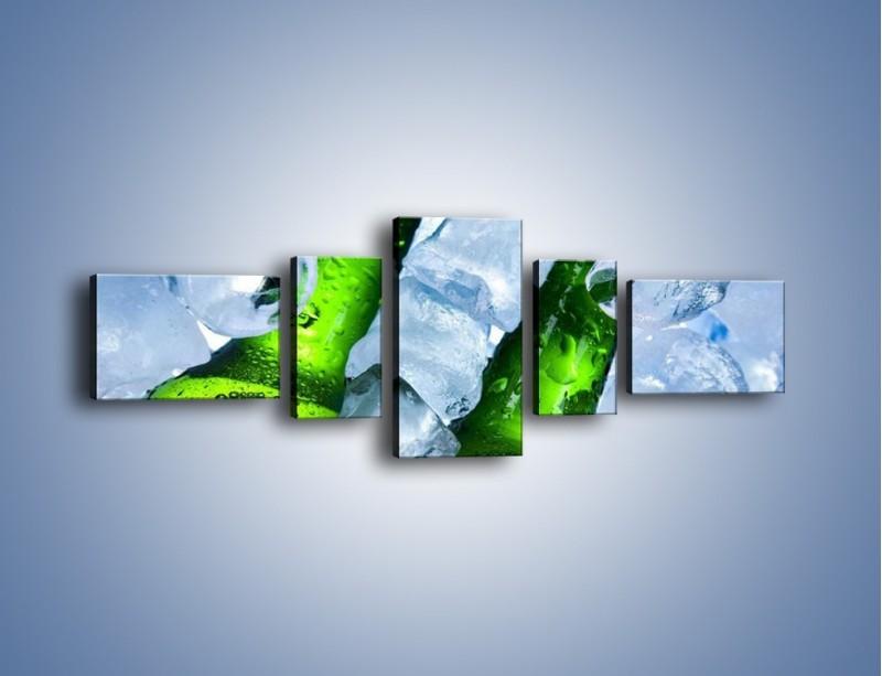 Obraz na płótnie – Czas na zimne piwko – pięcioczęściowy JN148W6