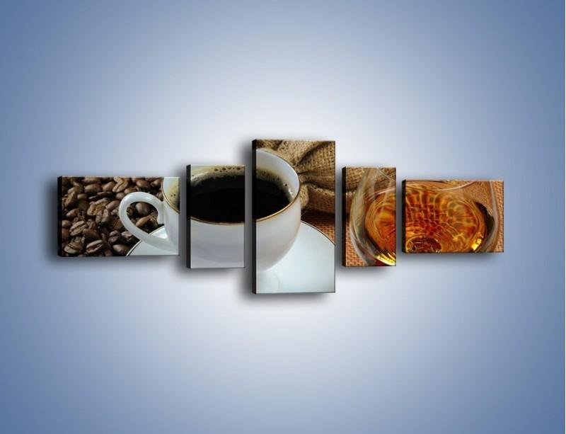 Obraz na płótnie – Wieczorowa kawa z prądem – pięcioczęściowy JN166W6