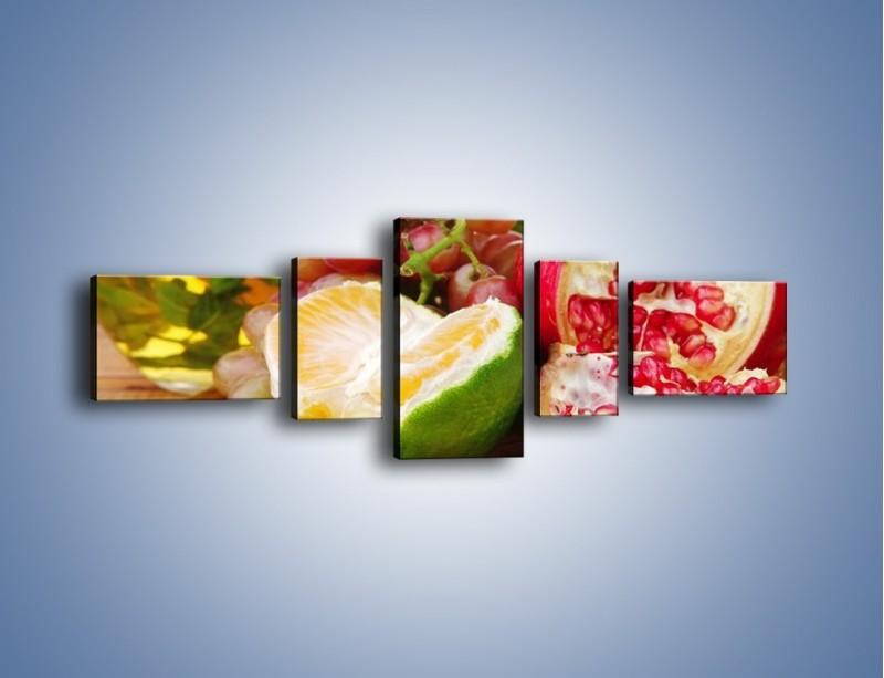 Obraz na płótnie – Owocowa taca pełna zdrowia – pięcioczęściowy JN170W6