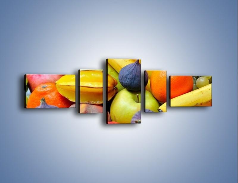 Obraz na płótnie – Owocowe kolorowe witaminki – pięcioczęściowy JN173W6