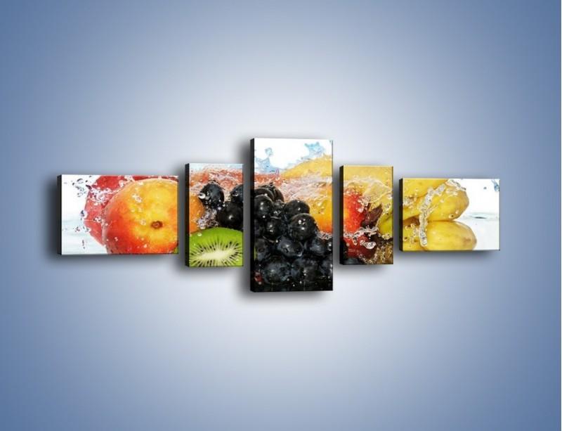 Obraz na płótnie – Owocowe nuty skąpane w wodzie – pięcioczęściowy JN176W6
