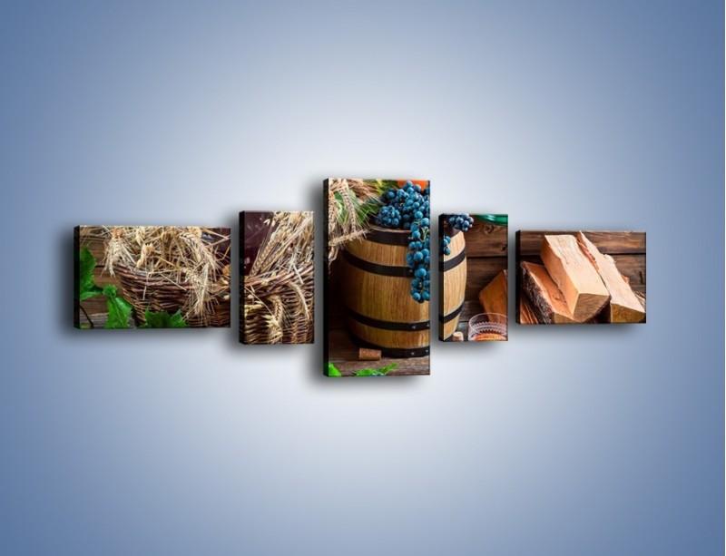 Obraz na płótnie – Wino według własnego przepisu – pięcioczęściowy JN202W6