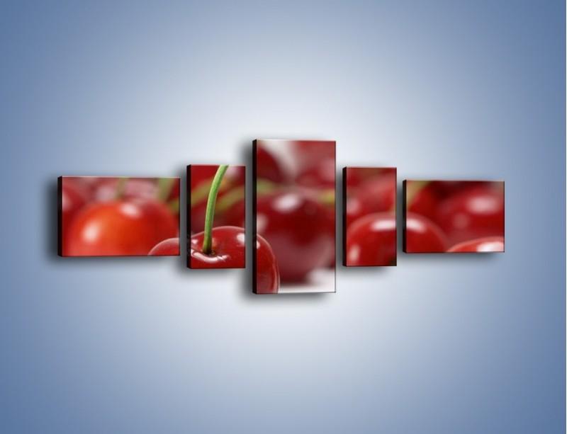 Obraz na płótnie – Czereśnia rządzi w kuchni – pięcioczęściowy JN223W6